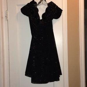 Black Velvet Party Dress Size 5/6